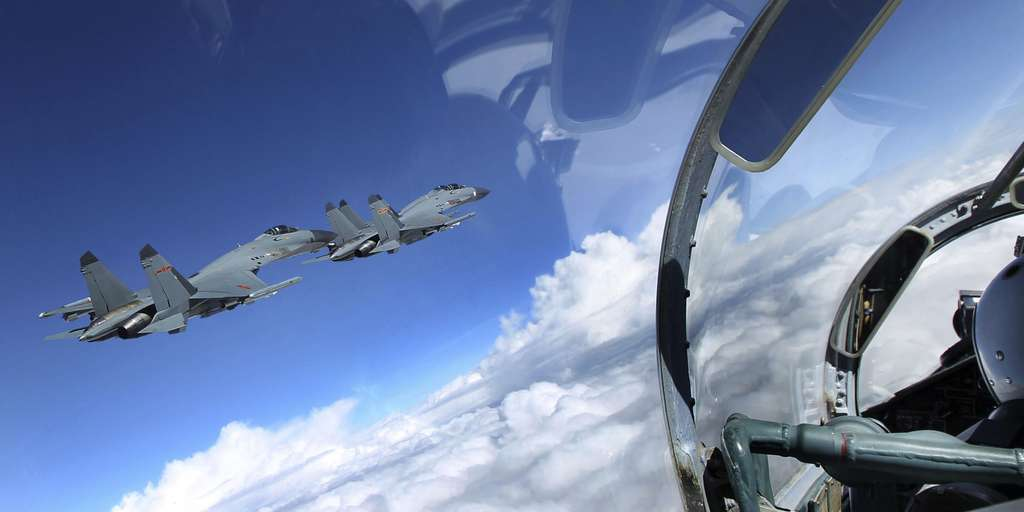 38 Chinese fighter planes entered the airspace