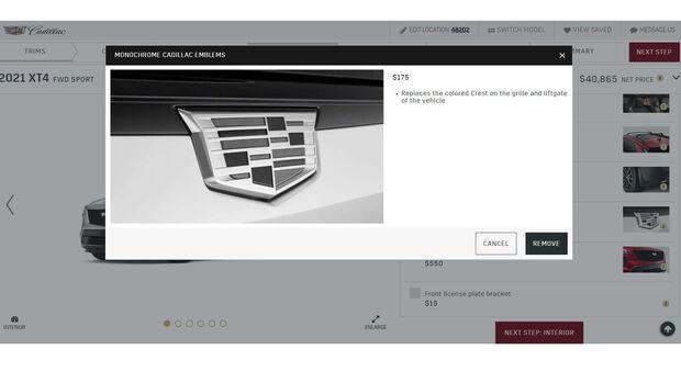 New 2021 Cadillac monochrome logo