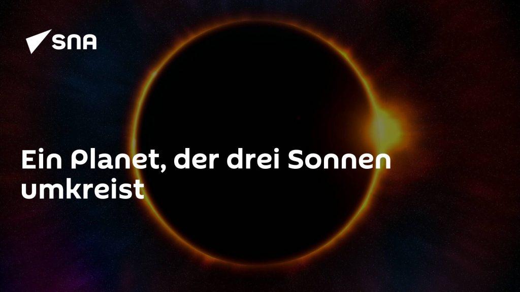 Planet revolving around three suns