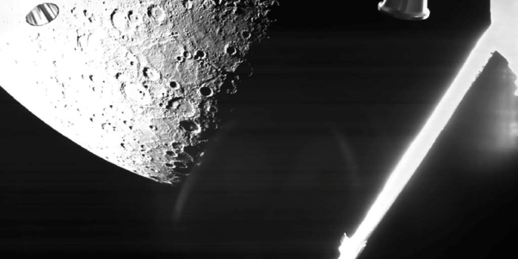 The BepiColombo space probe takes the first pictures of Mercury