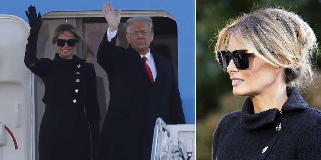 Melania Trump hides her tears behind sunglasses!