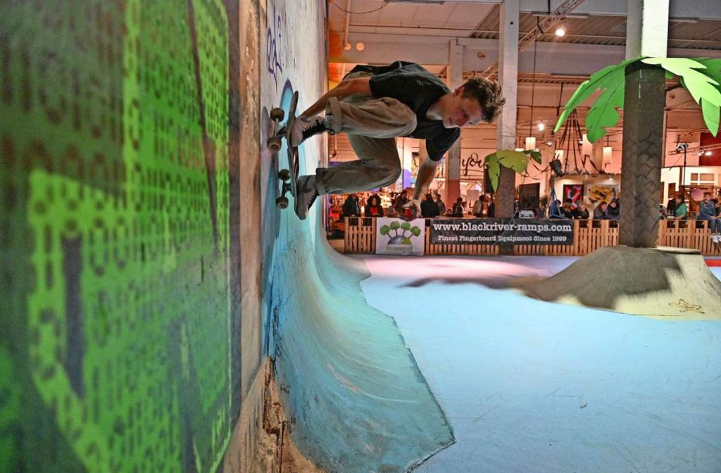 Ähnlich  wie hier auf der Hoftexplosion, nur als Ausführung in Holz: In der Filzfabrik soll eine kleine Skateranlage entstehen. Foto: /Andreas Geißer