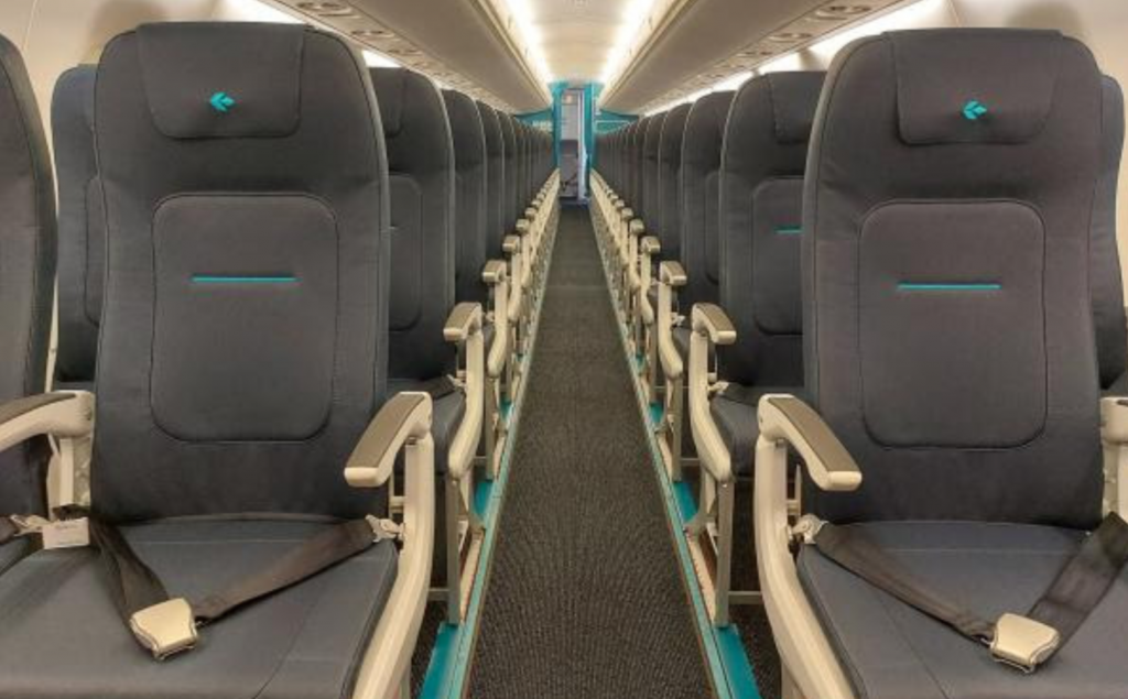 New seats: Air Dolomiti's cabin will be more similar to Lufthansa, Swiss and Austrian