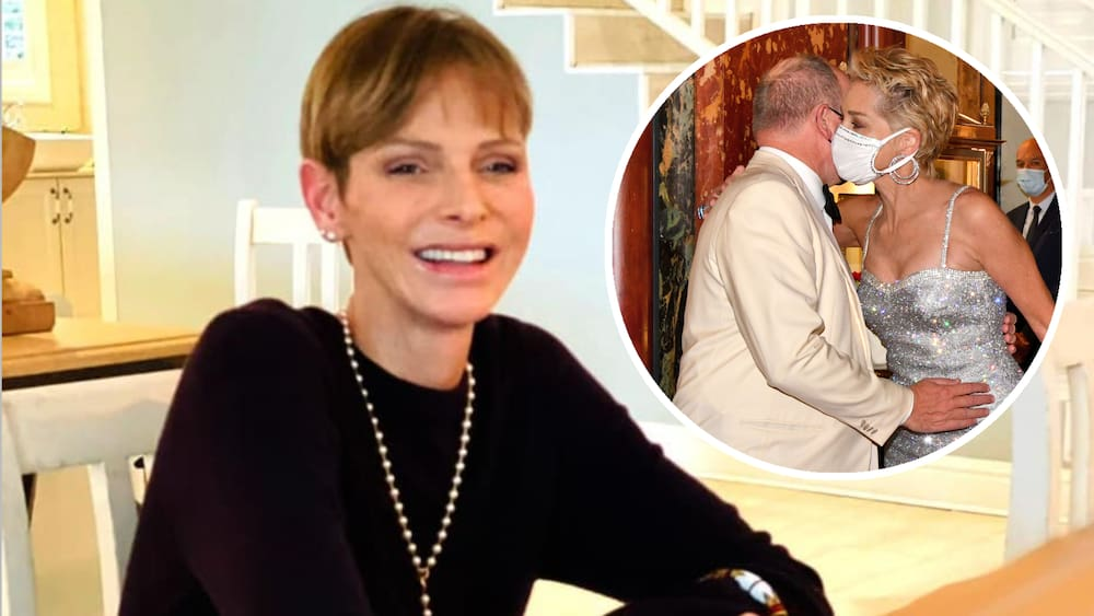 Prince Albert flirts with Hollywood star Sharon Stone in Monaco